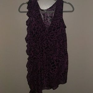 Purple Zebra Print Sleeveless Top